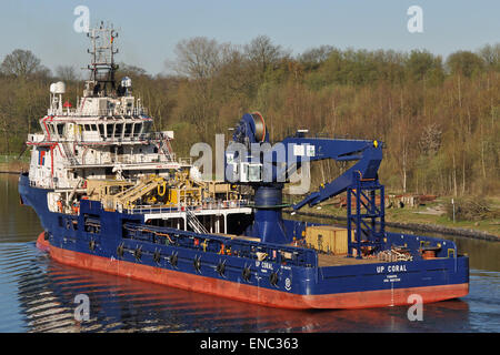 Offshore Supply Ship UP Coral - Stock Image