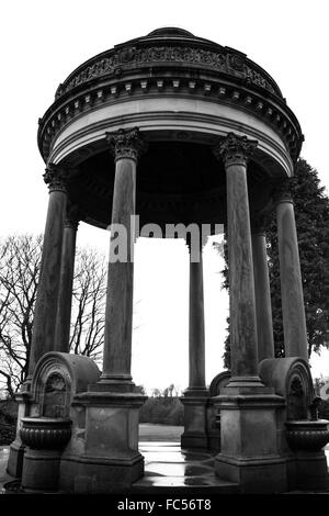 Barran's Fountain in Roundhay Park Leeds. - Stock Image