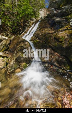 Glen Burney Trail in Blowing Rock, North Carolina - Stock Image