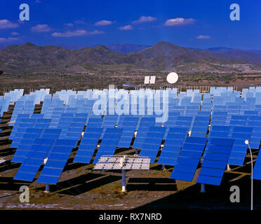 Solar power plant, Tabernas, Almeria province, Region of Andalusia, Spain, Europe - Stock Image