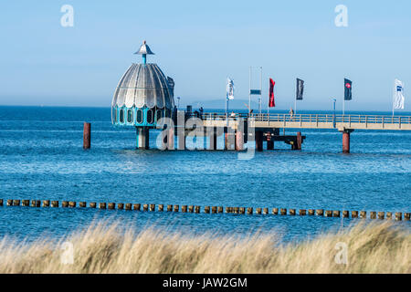 Wharf of Zingst, diving pod used for tourist diving,  Baltic Sea, peninsula of Fischland-Darß-Zingst, Zingst, - Stock Image