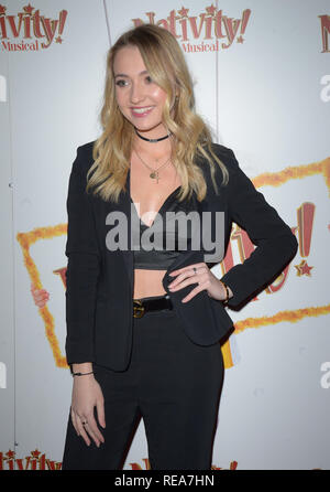 Celebrities attend 'Nativity! The Musical' Press Night held at the Hammersmith Apollo theatre  Featuring: Tilly Keeper Where: London, United Kingdom When: 20 Dec 2018 Credit: WENN.com - Stock Image
