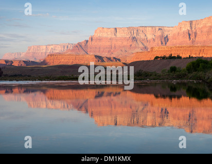sunrise at the upper end of the Grand Canyon near Lee's Ferry - Stock Image