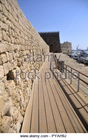 Fort de Koules activity in Heraklion, Crete - Stock Image