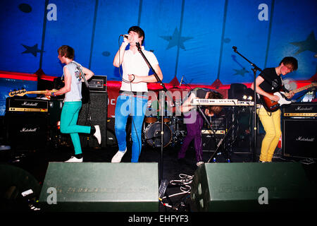 Maths Class live at Underage Festival in Victoria Park London. - Stock Image