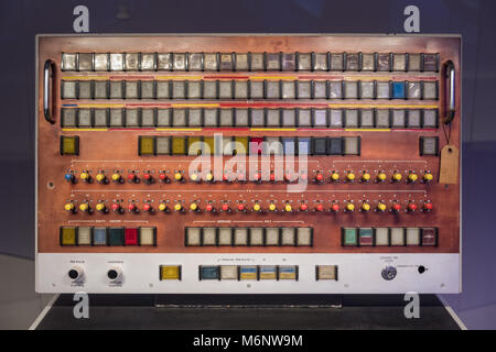 Old fashioned switch board. - Stock Image