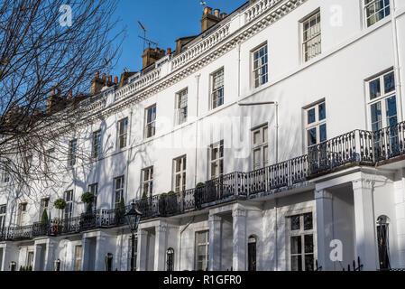 Luxury Georgian Apartments in South Kensington, London. - Stock Image