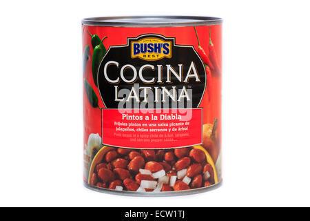 Bush's Best Cocina Latina Pintos a la Diablo Pinto Beans - Stock Image