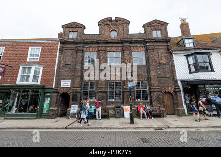 The Old Grammar School, in  in High St in Rye, East Sussex, England, UK - Stock Image