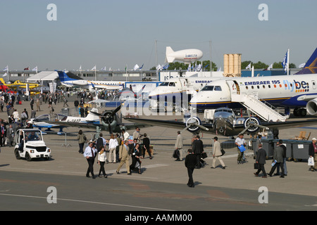 Scene across Le Bourget at Paris Airshow 2005 - Stock Image