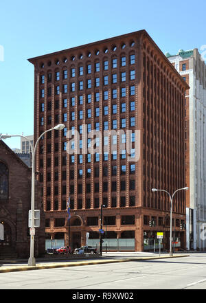 Guaranty Trust Building, Front Facade, by Louis Sullivan and Dankmar Adler, Downtown Buffalo, NY - Stock Image