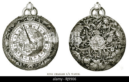 Charles I's watch. - Stock Image