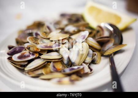 seafood dinner - Stock Image