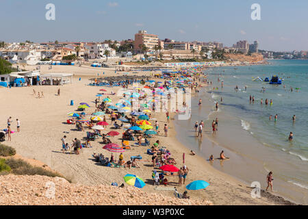 Mil Palmeras Costa Blanca Spain beautiful Mediterranean beach and coast south of Cabo Roig - Stock Image