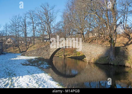 The Old Bridge over the River Isla in Keith, Morayshire Scotland. - Stock Image