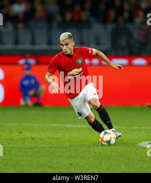 Optus Stadium, Burswood, Perth, W Australia. 17th July 2019. Manchester United versus Leeds United; pre-season tour; Andreas Pereira of Manchester United breaks forward on the ball Credit: Action Plus Sports Images/Alamy Live News - Stock Image