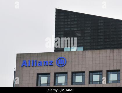 Allianz building, Taipei, Taiwan - Stock Image