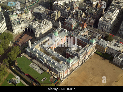 Aerial view of the Old Admiralty Building in London, now used by the British Government's Foreign and Commonwealth Office - Stock Image