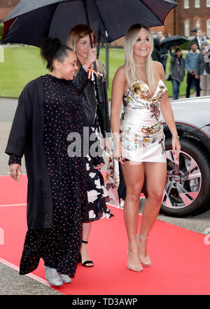 Rita Ora arrives for a concert hosted by Sentebale in Hampton Court Palace in East Molesey, to raise awareness and vital funds for the Duke's charity, Sentebale, which helps young people in southern Africa affected by HIV. - Stock Image