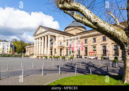 Kurhaus, Wiesbaden, Germany, 11th April 2018. - Stock Image