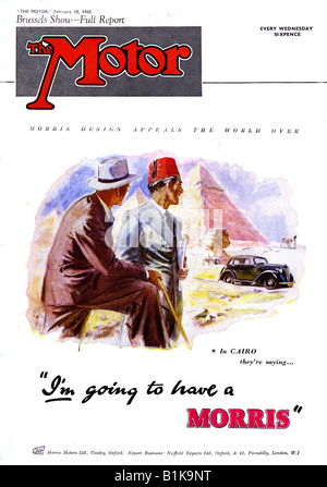 The Motor Magazine 18 February 1948 front cover featuring Morris Motors Ltd FOR EDITORIAL USE ONLY - Stock Image