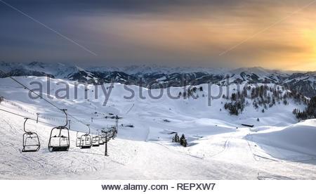 Ski resort in Kitzbuehel Austria - Stock Image
