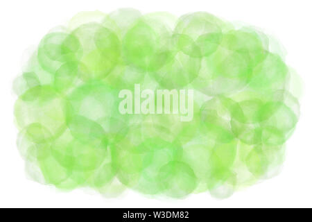 Pastel color summer green abstract on natural watercolor hand paint background - Stock Image