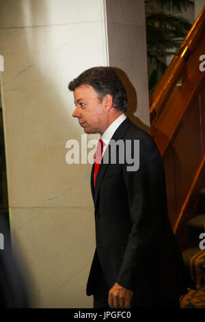 President of Colombia Juan Manuel Santos - Stock Image
