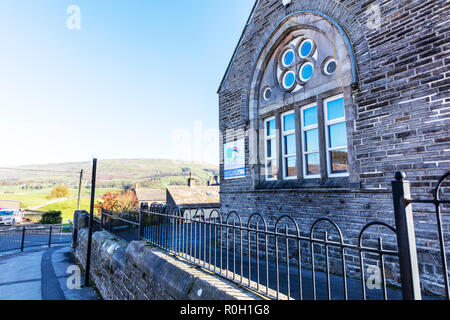 Hawes Community Primary School, Yorkshire Dales primary school, Hawes Primary School, primary schools UK, Primary School, Hawes Yorkshire UK, schools - Stock Image