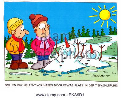 Schneemnner - Stock Image