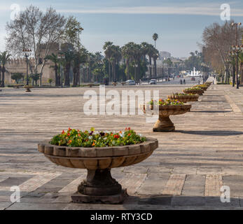 Avenue Moulay Youssef from the Royal Palace Gate, Fes, Morocco - Stock Image