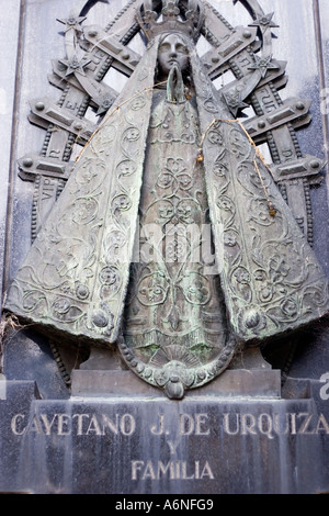 Recoleta Plaque - Stock Image