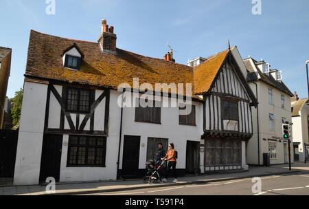 Tudor Building in Hastings Old Town, East Sussex, UK - Stock Image