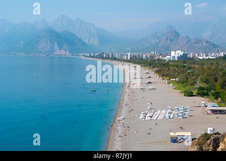 Konyaalti Beach, Antalya, Turkey - Stock Image