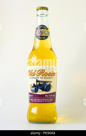 Unopened bottle of  Westonb OLD ROSIE cider in uk - Stock Image