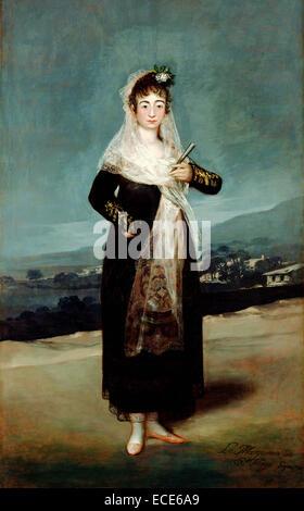 Portrait of the Marquesa de Santiago; Francisco José de Goya y Lucientes (Francisco de Goya), Spanish, 1746 - Stock Image