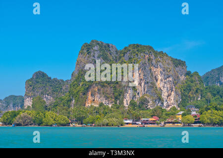 East Railay Bay Beach, general view, Railay, Krabi province, Thailand - Stock Image