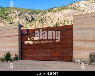 NK'MIP Desert Cultural Centre at Spirit Ridge Resort, Osoyoos BC Canada. Features interpretive facility and - Stock Image