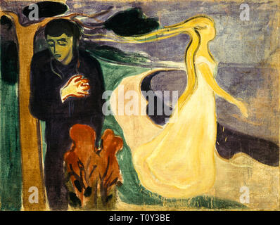 Edvard Munch, Separation, painting, 1896 - Stock Image