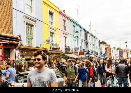 Notting Hill London, Notting Hill market, Notting Hill street, Notting Hill London UK England, Notting Hill shops, Notting Hill, London, UK, England - Stock Image