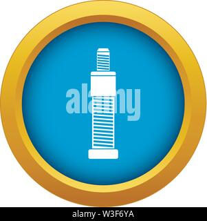 Screw and bolt icon blue vector isolated - Stock Image