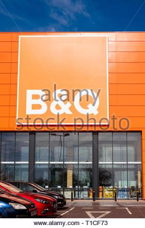 B&Q store, UK. - Stock Image