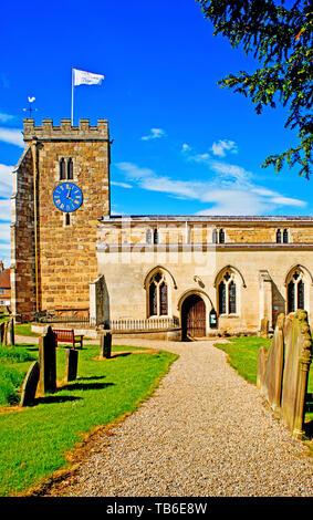 St Andrews Church, Aldborough, North Yorkshire, England - Stock Image