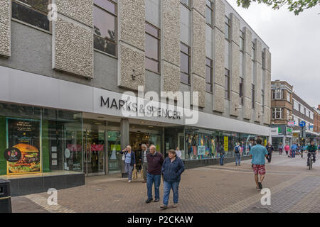 Marks and Spencer store in Abington Street, Northampton, UK; in May 2018 it was announced that it was earmarked for possible closure. - Stock Image