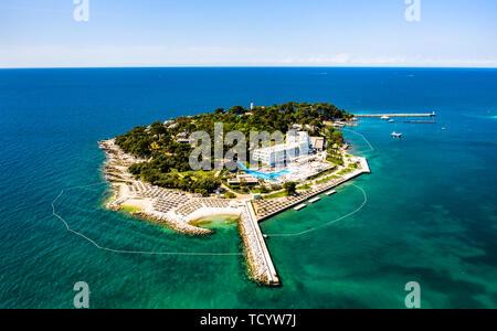 Sveti Nikola island near Porec, Croatia - Stock Image