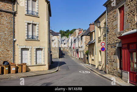The older part of Fougéres, Brittany, France - Stock Image