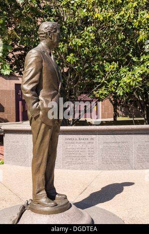 Statue of James A Baker Houston Texas - Stock Image