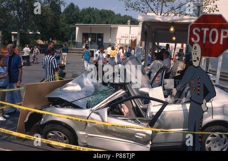 An exhibitvon drunk driving in Greenbelt, Maryland - Stock Image