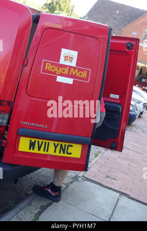 Royal Mail van in Ticehurst, East Sussex, United Kingdom, - Stock Image