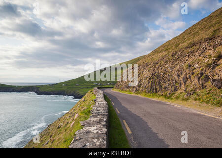 Ireland, County Kerry, Dingle Peninsula, Slea Head Drive, Dunquin, country road - Stock Image